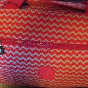 ESBAG- LARGE HANDBAG- ZIGZAG RED/GOLD